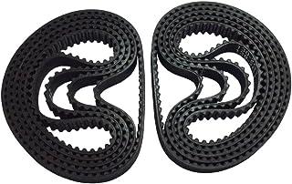 BEMONOC 2GT Timing Belt 130-2GT-6 L=130mm W=6mm 65 Teeth in Closed Loop Machine Drive Belt for Conveyor Pack of 10pcs