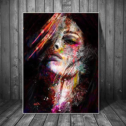 Abstrakte Graffiti-Kunst-Wandmalereien Drucken auf Leinwand Pop-Art-Leinwanddrucke Moderne Mädchen Ölgemälde Wohnzimmer 20x30cm