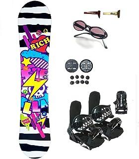 Symbolic 140cm Stella Rich Women's Snowboard Bindings+Sunglasses+Burton Decal Package