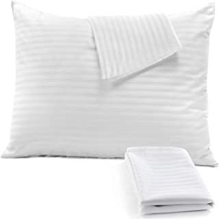 4Pack Pillow Protectors Standard 20x26 Cotton Blend Sateen Style 450 Thread Count Lab d Tight Weave❤️Life Time Replacement...