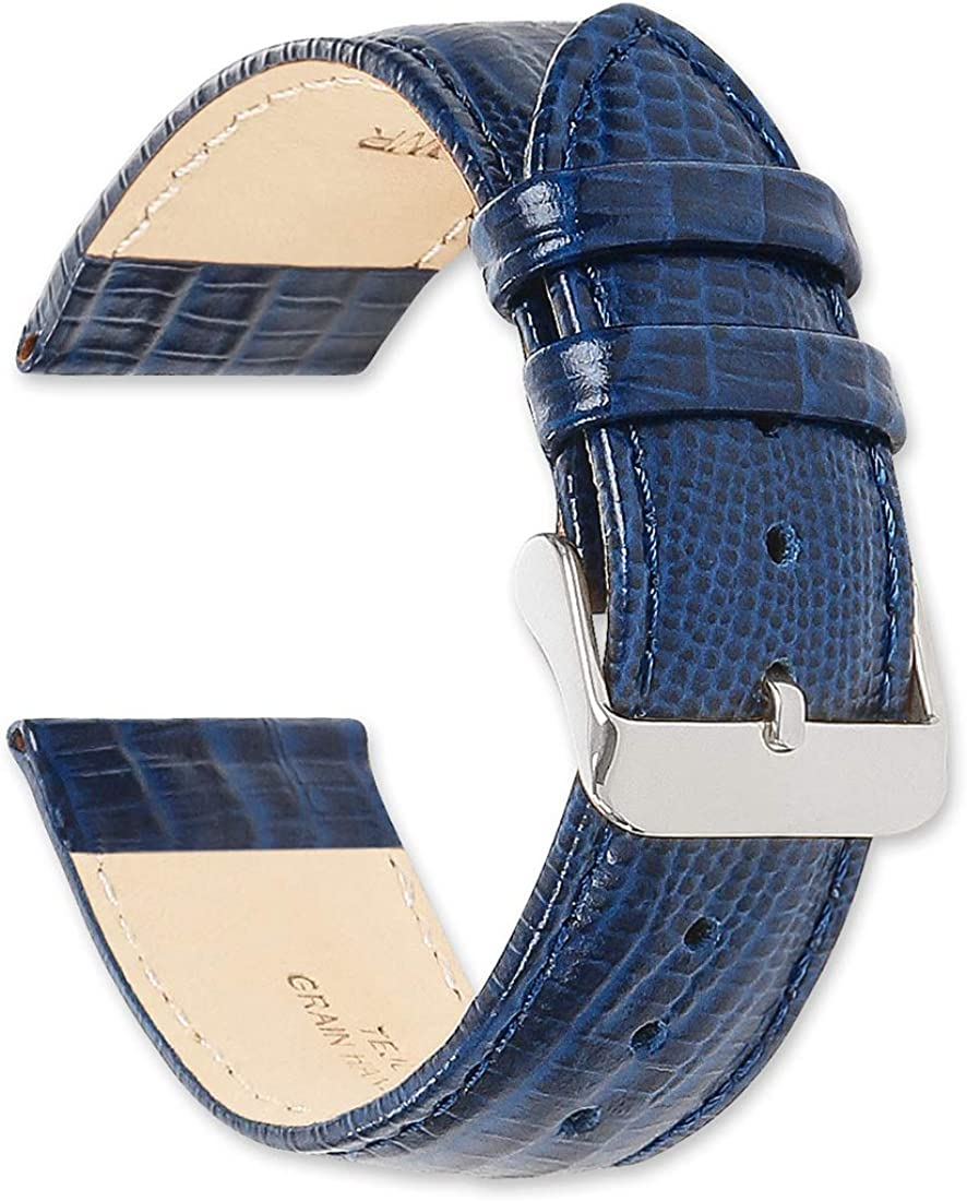deBeer Leather Watch Strap Special price for a limited time - Ranking TOP4 Grain Teju Navy 20mm Lizard