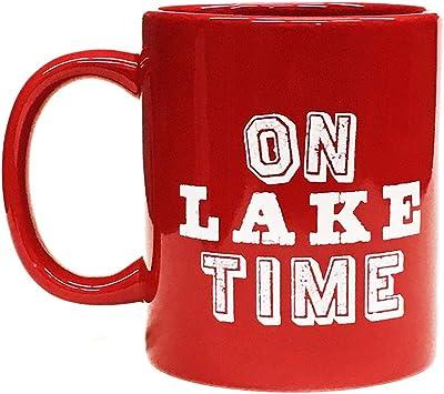 Lake Houseコーヒーmug- on Lake時間–red- 11オンス