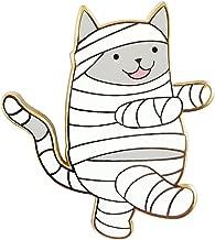 Pinsanity Cute Halloween Mummy Cat Enamel Lapel Pin