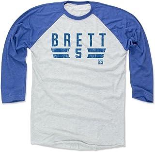 500 LEVEL George Brett Shirt - Vintage Kansas City Baseball Raglan Tee - George Brett Font