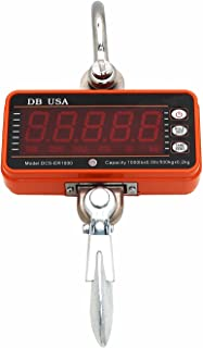 DB USA Digital Crane Scale, DCS-ER2000lb / 1000kg High Precision Compact Hanging Scale LED Display