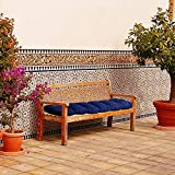 XHQI Garden Bench Cushion,Rectangle Bench Mat Cushion 2 Seater Garden Bench Pads Soft Thick Swing Chair for Living Room Patio Garden Dining Bench Lounger(130x50cm-Blue)