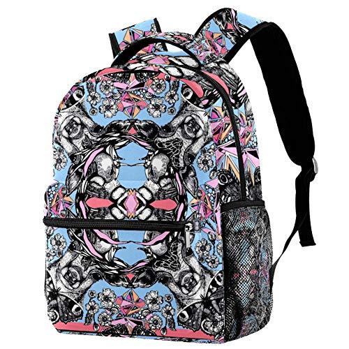 Lindo piña con cara en verano playa mochila escolar mochila libro bolsa casual mochila para viajes, estampado 6, Talla única, Mochila de a diario