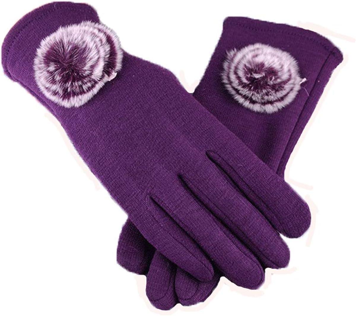 seven wolves Women Touch Screen Gloves Winter Warm Glove Cashmere Lining Glove