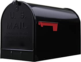 Gibraltar Mailboxes Stanley Extra-Large Capacity Galvanized Steel Black, Post-Mount Mailbox, ST200B00