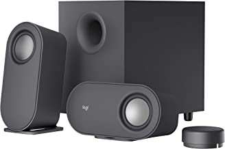 Logitech Z407 Bluetooth Computer Speakers with Subwoofer and Wireless Control, Immersive Sound, Premium Audio with Multipl...