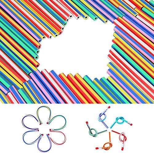 EMAGEREN 70 Stück Biegebleistift Bendy Bleistifte Weiche Bleistifte Kinder Flexible Biegsame Bleistifte Biegbare Bleistifte Magic Biegebleistift für Kinder Mitgebsel Beim Kindergeburtstag