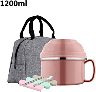 WCHCJ Lunch Box - Insulated Leak Proof Lunch Box for Adults and Kids Thermal Lunch Container with (Color : D)