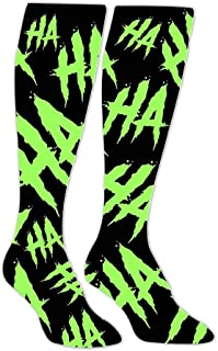 Acid Laugh Compression Socks Long Knee Stockings High Socks for Hiking Soccer Running