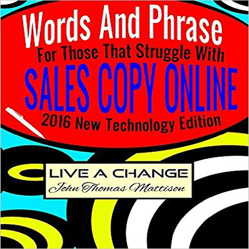 Words and Phrases for Those That Struggle with Sales Copy Online audiobook cover art