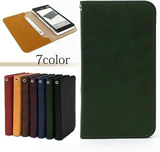 TORQUE G02 KYV35ケース スマホケース シンプル ラム レザー 手帳型 カード 収納 カバー (カラー フォレストグリーン) ー au エーユー