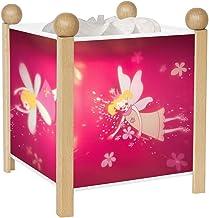 Trousselier - Elfen prinses - nachtlampje - magische lantaarn - ideaal geboortegeschenk - kleur hout natuur - geanimeerde ...