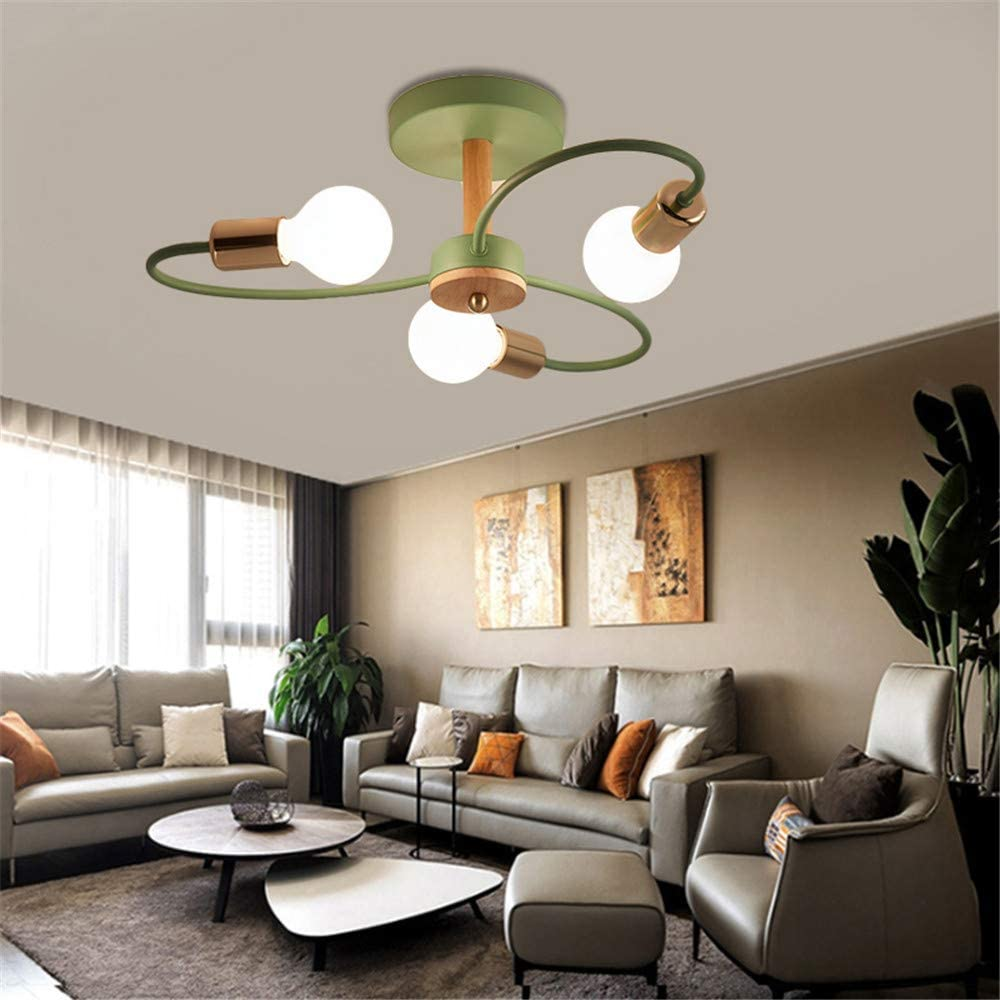 RUNNUP Curve Spiral Indoor Ceiling National products Lighting C Retro Vintage 40% OFF Cheap Sale Wood