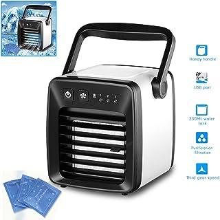 Hihey Mini Aire Acondicionado radiador Mini Ventilador de Aire portátil USB de Carga silencioso Ventilador de Aire de Escritorio para la Oficina en casa