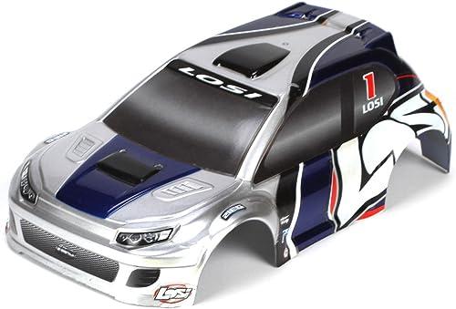 1 24 4WD Rally Karosserie, silber blau