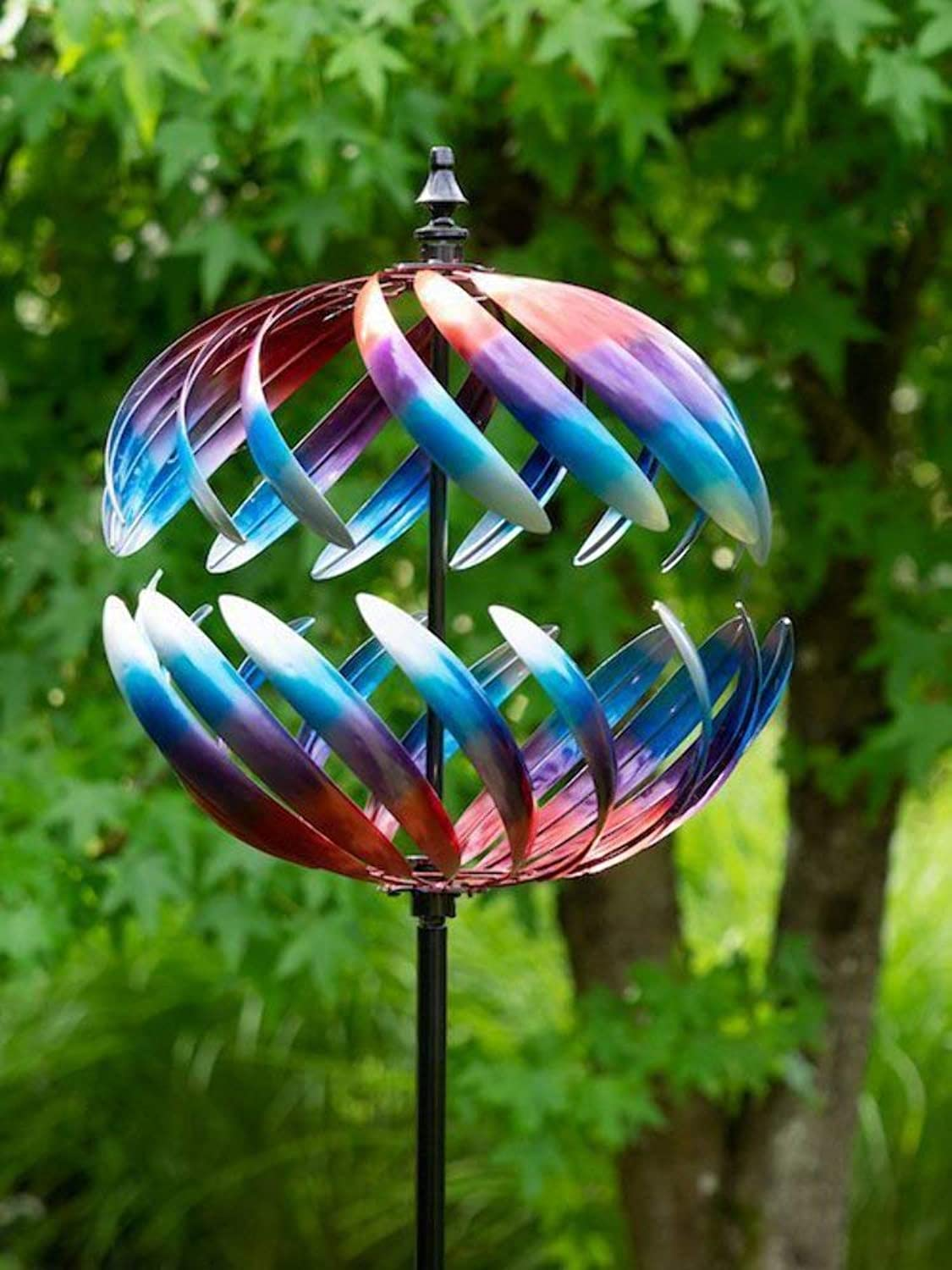 JONART DESIGN Globe wind sculpture spinner