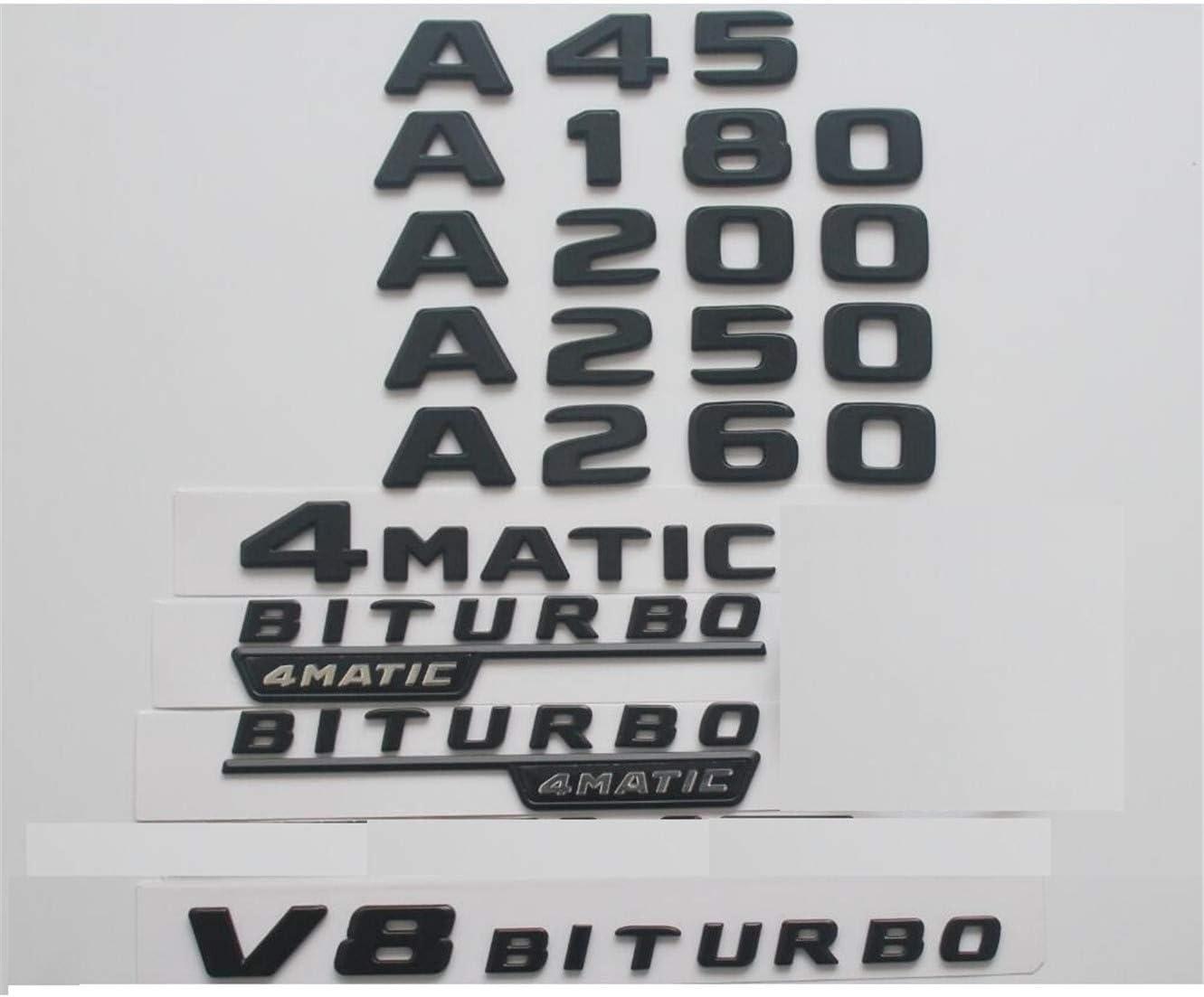 All stores are sold Flat overseas Matt BlackTrunk Fender Letters Badges Badge Emblem Emblems