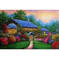 大人のためのジグソーパズル子供1000個桜の木のブランコ子供ジグソーパズルゲームDIY教育玩具木製の家の装飾ギフト19.68x 29.52インチ(50x75cm)若者の知的減圧ゲーム、創造的な家の壁の装飾