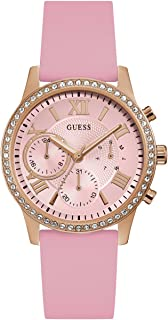 GUESS Women's Rose Gold-Tone and Pink Multifunction Watch