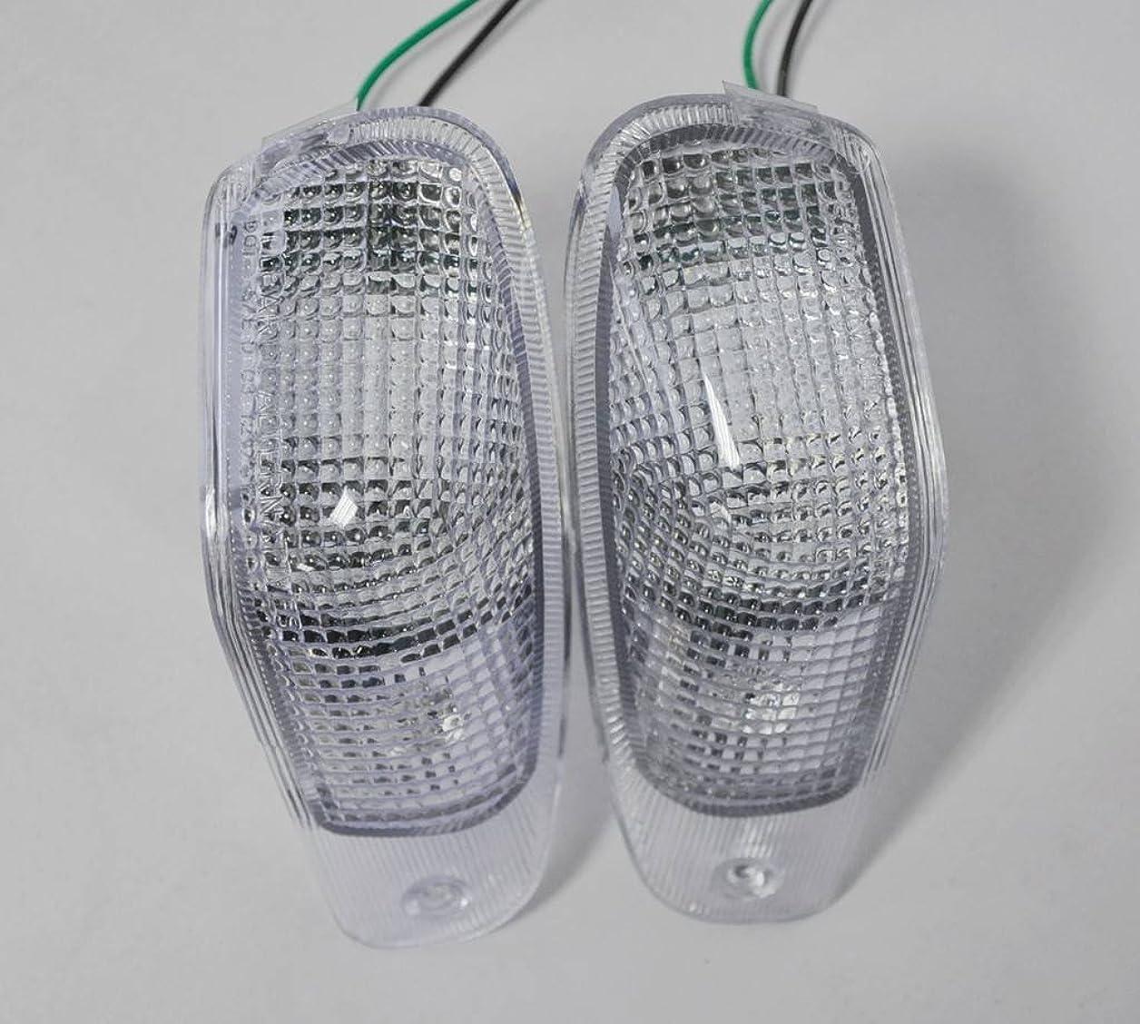 約束する凶暴な特徴づける(LED)透明色オートバイターンシグナル 川崎 94-04 Zx600E/Zzr600 Zzr250 (Front)
