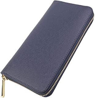 Men's Wallet Zipper Handbag Wallet Fashion Trend is Suitable for Travel Shopping (Color : Blue, Size : S)