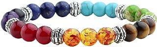 Jovivi 7 Chakra Crystals Gemstones Healing Beads Bracelet Women Natural Stone Yoga Reiki Balancing Mala Meditation Beaded ...