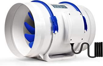 /ø190mm*190mm Cocina Ventilador Extractor de Aire en L/ínea Acero Inoxidable//Motor de Dos-velocidades Silencioso Potente para Oficina Hotel Ba/ño