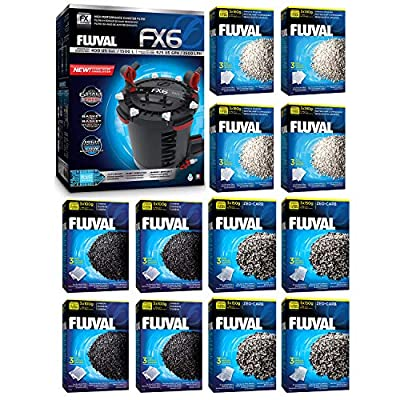Fluval FX6 A219 Filter w/Carbon, Ammonia Remover & Zeo-Carb 12mo