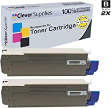 CS Compatible Toner Cartridge Replacement for Okidata C610 44135304 Black Oki C15 C610 C610dn C610n C610cdn C610dtn Black: 8 000 Each Page Yield 2 Set