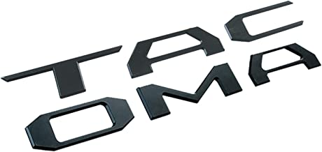 Metal Brushed Aluminum Vinyl Decal Tailgate Letter Insert 16-18 Toyota Tacoma