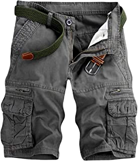 Men's Lightweight Multi Pocket Casual Cargo Shorts with...