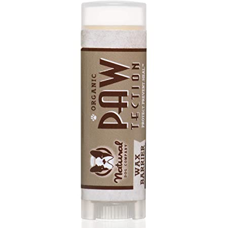 Natural Dog Company PawTection Dog Paw Balm, Protects Paws from Hot Surfaces, Sand, Salt, & Snow, Organic, All Natural Ingredients