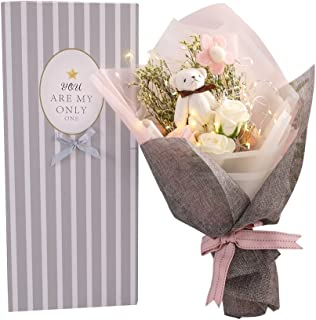 枯れない 花束 プレゼント バラ 花 ギフト ソープ 造花結婚祝い 誕生日 母の日 父の日 定年祝い 還暦祝い 新築祝い 送別会