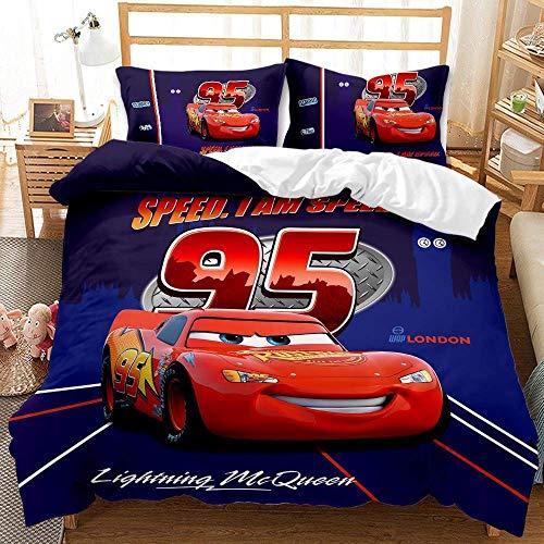 JXSMYT Juego de ropa de cama infantil con dibujos animados 3D, 135 x 200 cm, funda de edredón de microfibra (QC-6,135 x 200 cm + 1 x 50 x 75 cm)