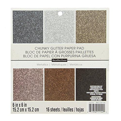DCWV Specialstapel ensidig glitter, metalliskt glitter med 18 säten PS-006-00099