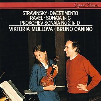 Ravel: Violin Sonata / Prokofiev: Violin Sonata No. 2 / Stravinsky: Divertimento