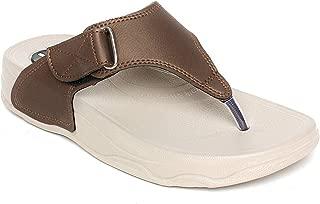 WELCOME Women's Matellicbrown Leather Flip-Flops-7 UK/India (40 EU) (A01CopperHF-13_7)