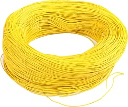 Generic 20AWG 3Meters Equipment Automotive Stranded Wire Cable Cord Hook-up Testing Strip - Yellow