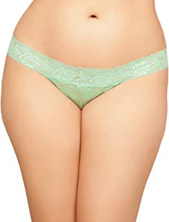 c90cb5bc72d Seven  til Midnight Women s Plus Queen Size Chloe Lace Thong with Keyhole  Back Detail