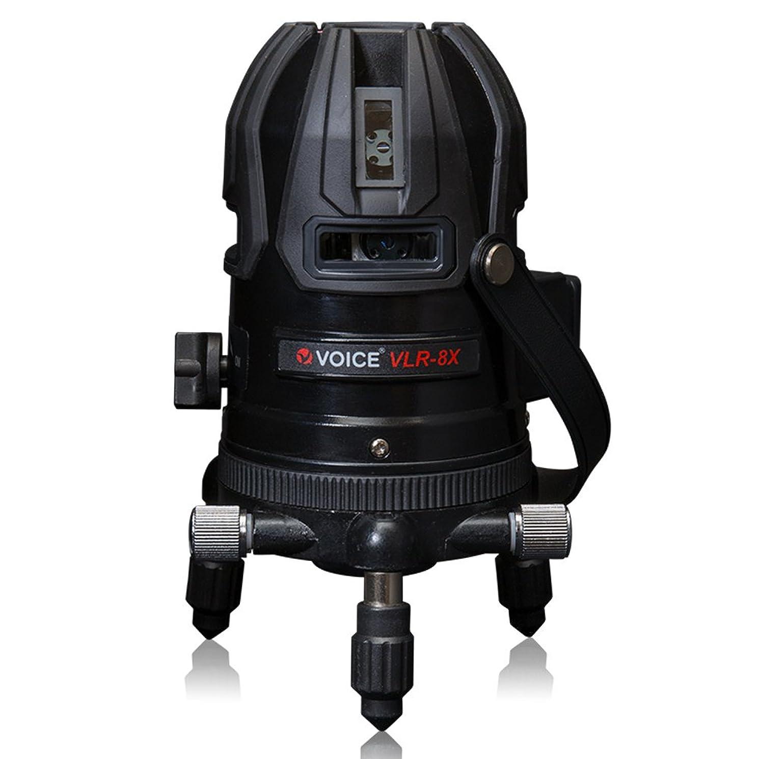 冊子としてサイクロプスVOICE フルライン レーザー墨出し器 VLR-8X メーカー1年保証 フルライン照射モデル【標準セット】