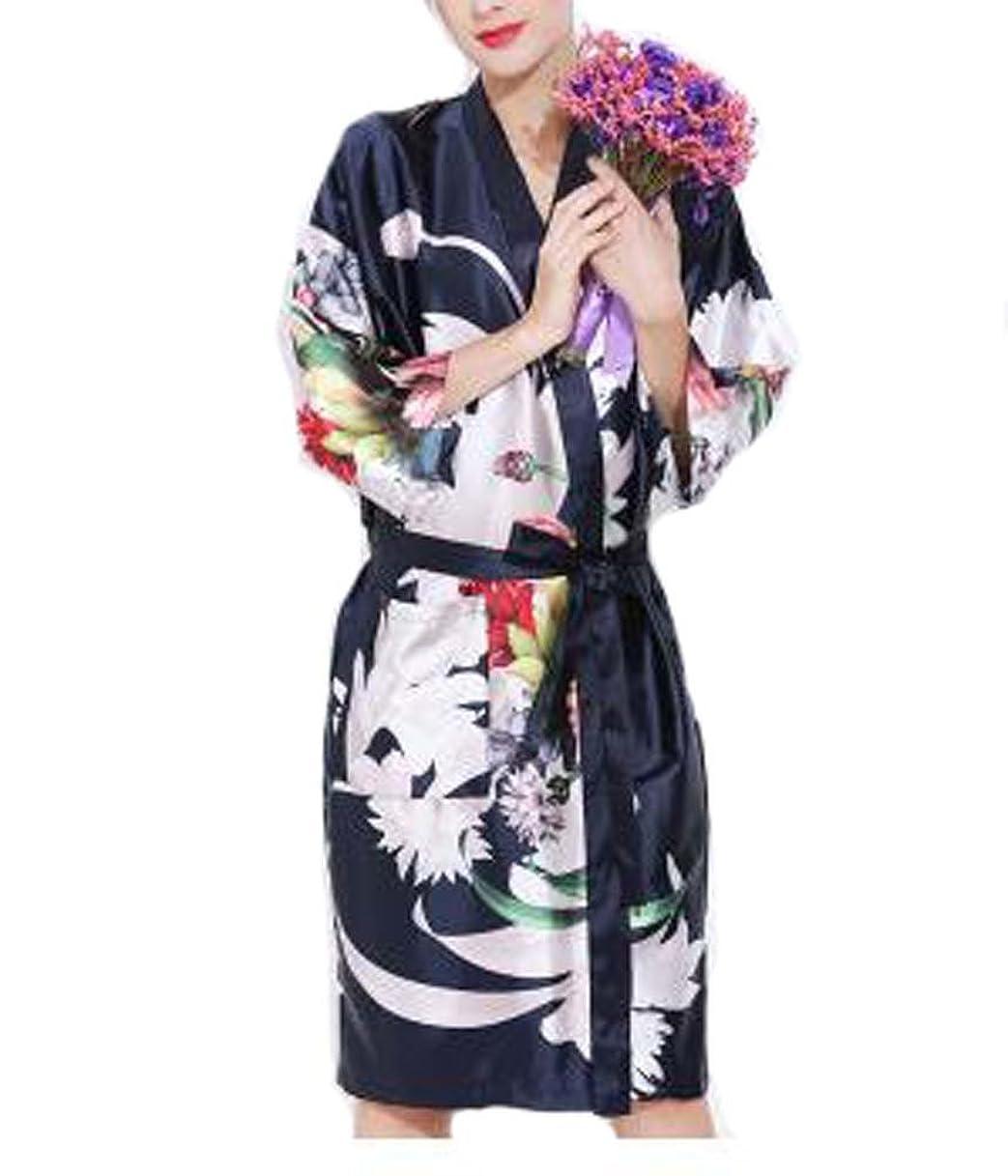 縁注ぎます四分円レトロスタイルの美容院の花のガウンの衣類、顧客のための美容院のガウン、ネイビー