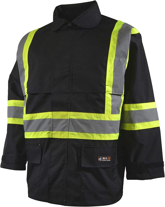 10 4 JOB Luxury goods Credence - High Visibility Hi Gear Work Jacket Rain Vi