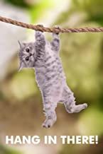 Hang in There Cat Hanging from Branch Funny Retro Motivational Laminated Dry Erase Wall Poster 12x18