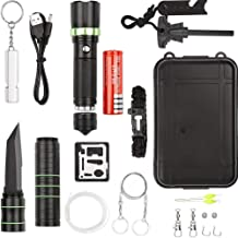 ANGAZURE 17 in 1 Tactical Survival Kit Professional Outdoor Survival Gear kits for Hiking Biking Camping Adventures Hunting