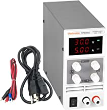 Haitronic DC Power Supply 30V 10A Adjustable, from Input AC 110V to Precise Variable DC 0~30V @ 0~10A Output, 3 Digital Display with Alligator Cable & Power Cord for Lab and Experiment