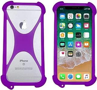 Soft Phone Case for Doro Liberto 820 Mini 8030 8031 8020X 8035 825 824 824C 822 810 Shockproof Bumper Cover Flexible Silicone Case for AllCall Alpha Atom Madrid Mix2 Bro Rio S S1(Purple)